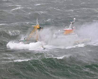 Fishery trawler Z-548 off Texel