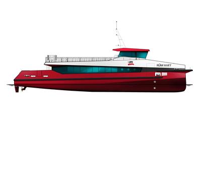 Nav/Com package catamaran ferry
