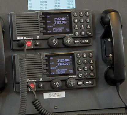 Cobham equipment in radio console